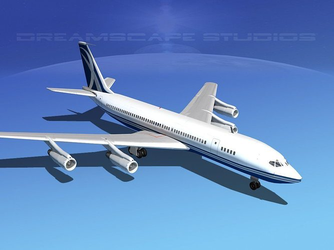boeing 707 corporate 7 3d model max obj mtl 3ds lwo lw lws dxf stl 1