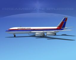 Boeing 707 Air Dominicana 3D Model