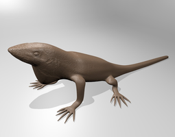 3d printable model anole lizard