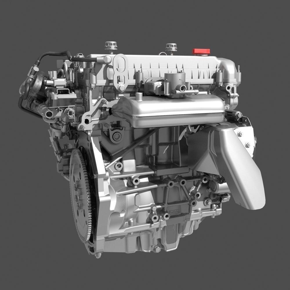 Model Car With Engine: Car 4 Cylinder Engine 01 3D Model MAX FBX