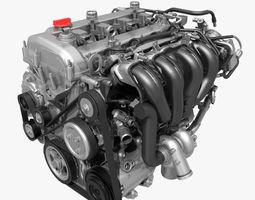 Car 4 Cylinder Engine 01 3D Model