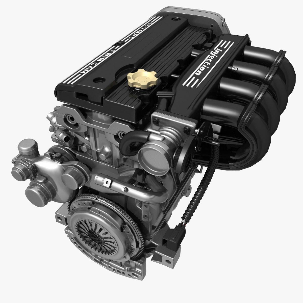 Car 4 Cylinder Engine 02 3D model | CGTrader