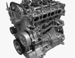 4 Cylinder Engine Block 01 3D