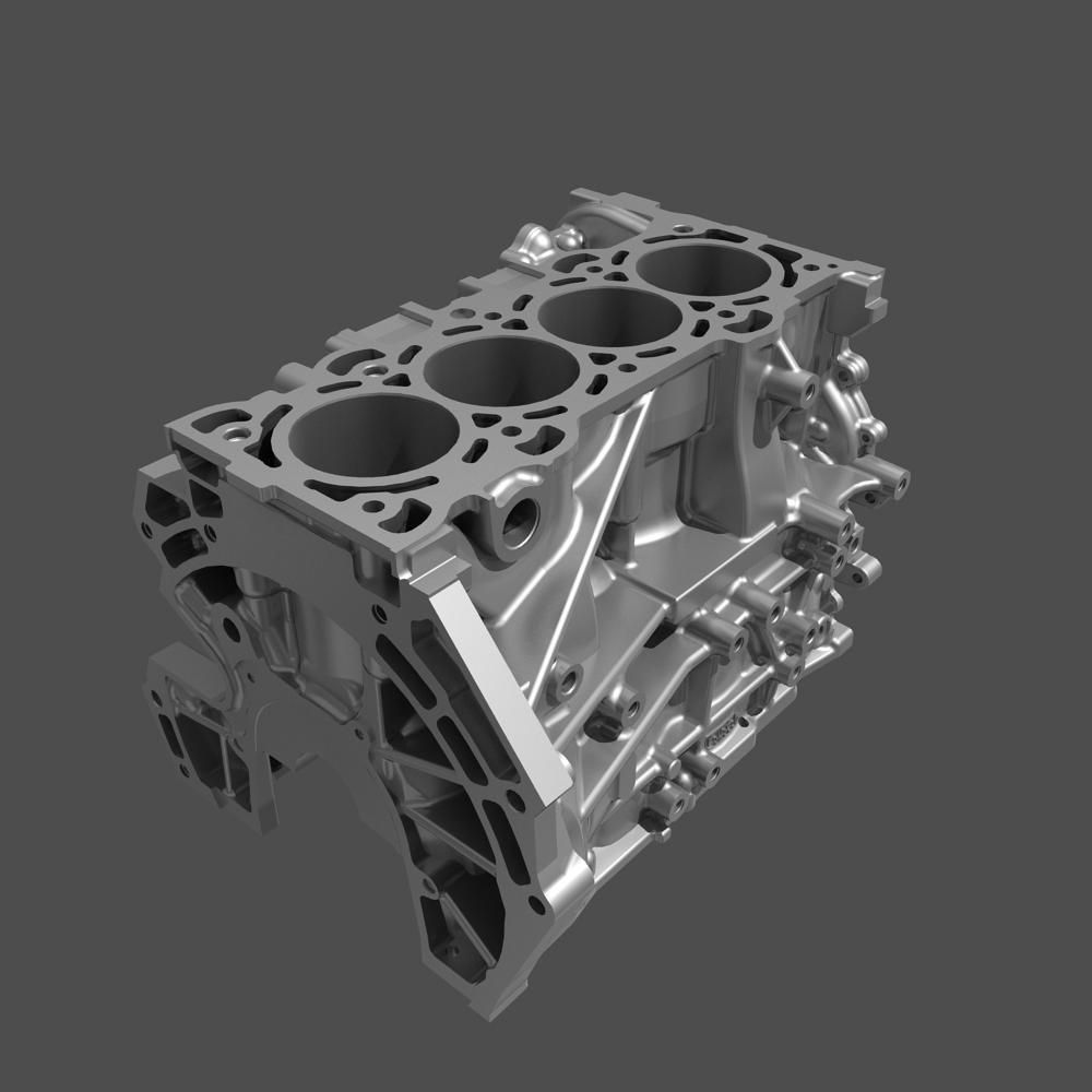 4 cylinder engine block 01 3d model max fbx. Black Bedroom Furniture Sets. Home Design Ideas