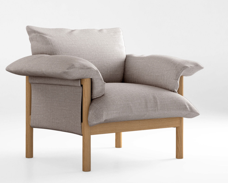Jardan Wilfred armchair 3D Model MAX OBJ | CGTrader.com