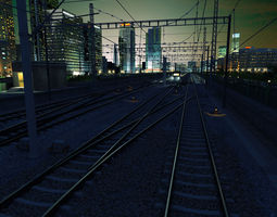 3D High Speed Train