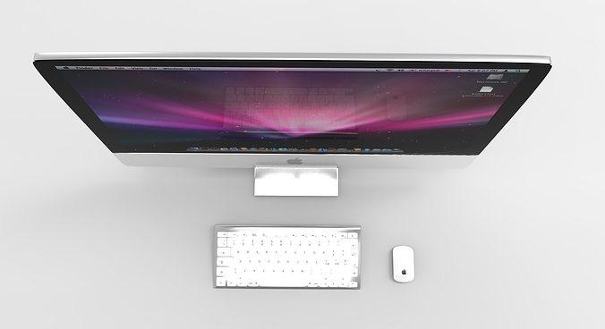 apple imac 3d model obj mtl 1