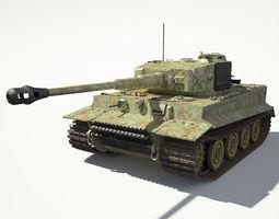 3D Tiger 1 Tank