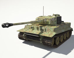 tiger 1 tank 3d model max obj 3ds fbx