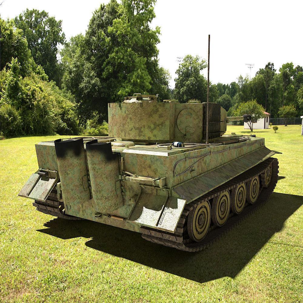 Tiger Tank Interior Model: Tiger 1 Tank 3D Model .max .obj .3ds .fbx
