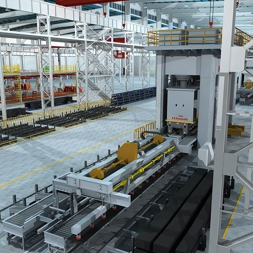 factory interrior scene  3d model max obj fbx mtl tga 1