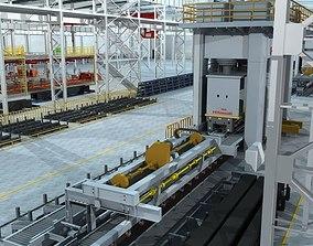 Factory Interrior Scene 3D