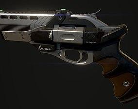 Lunar Revolver 3D asset