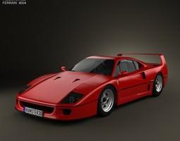 Ferrari F40 1987 3D Model