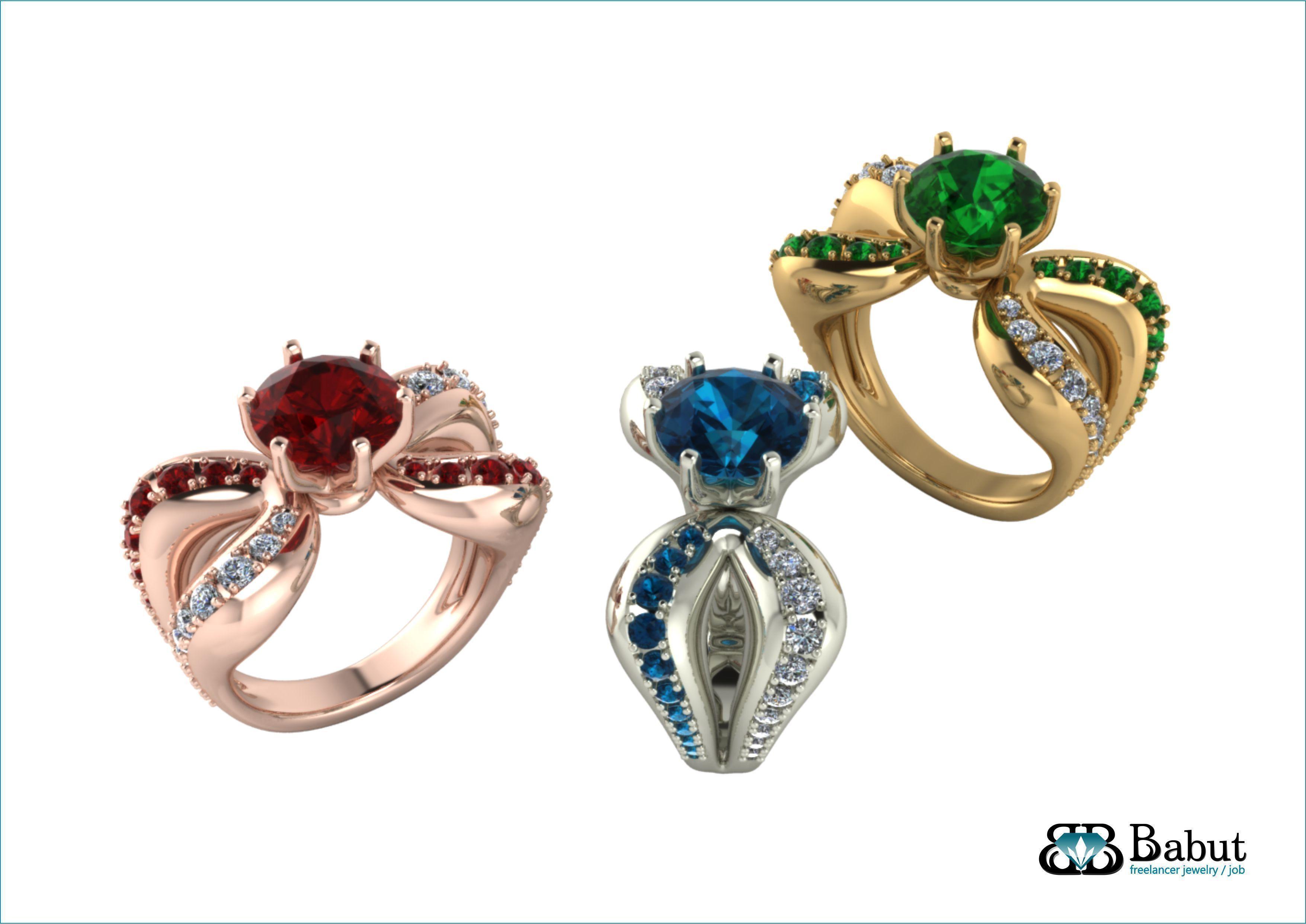 ladies ring 3D print model | CGTrader