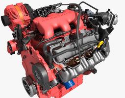 Car V6 Engine 3D Model