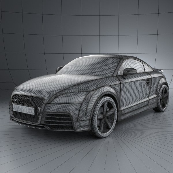 audi tt rs coupe 2010 with hq interior 3d model max obj 3ds fbx c4d lwo lw lws. Black Bedroom Furniture Sets. Home Design Ideas