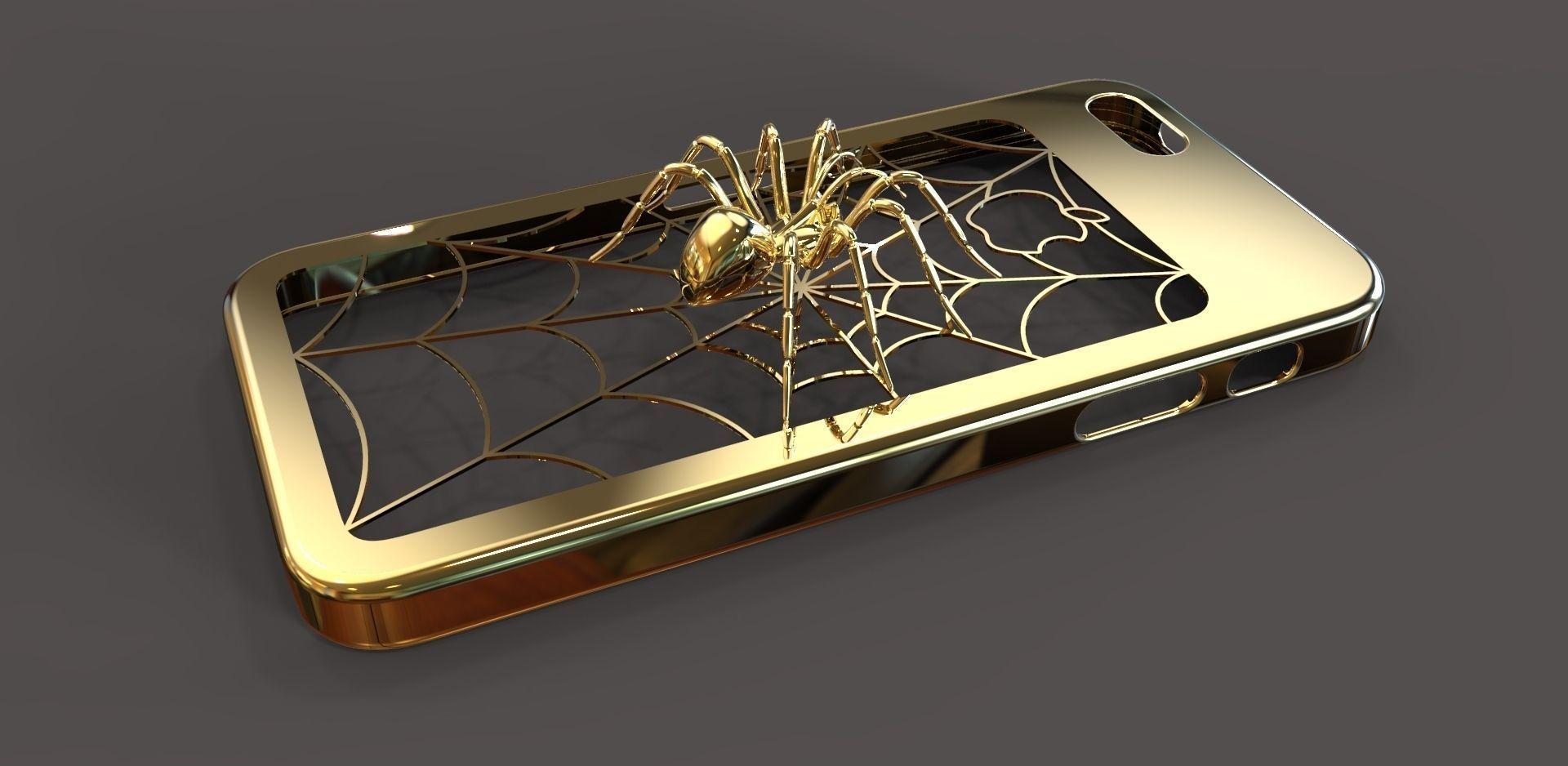 Iphone 5 Spider Case 3d Model 3d Printable Wrl Wrz