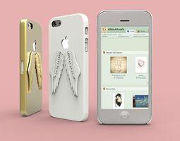 3d printable model iphone 5 angel wings case