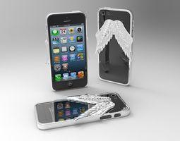iphone 5 angel wings case 2nd version 3d printable model