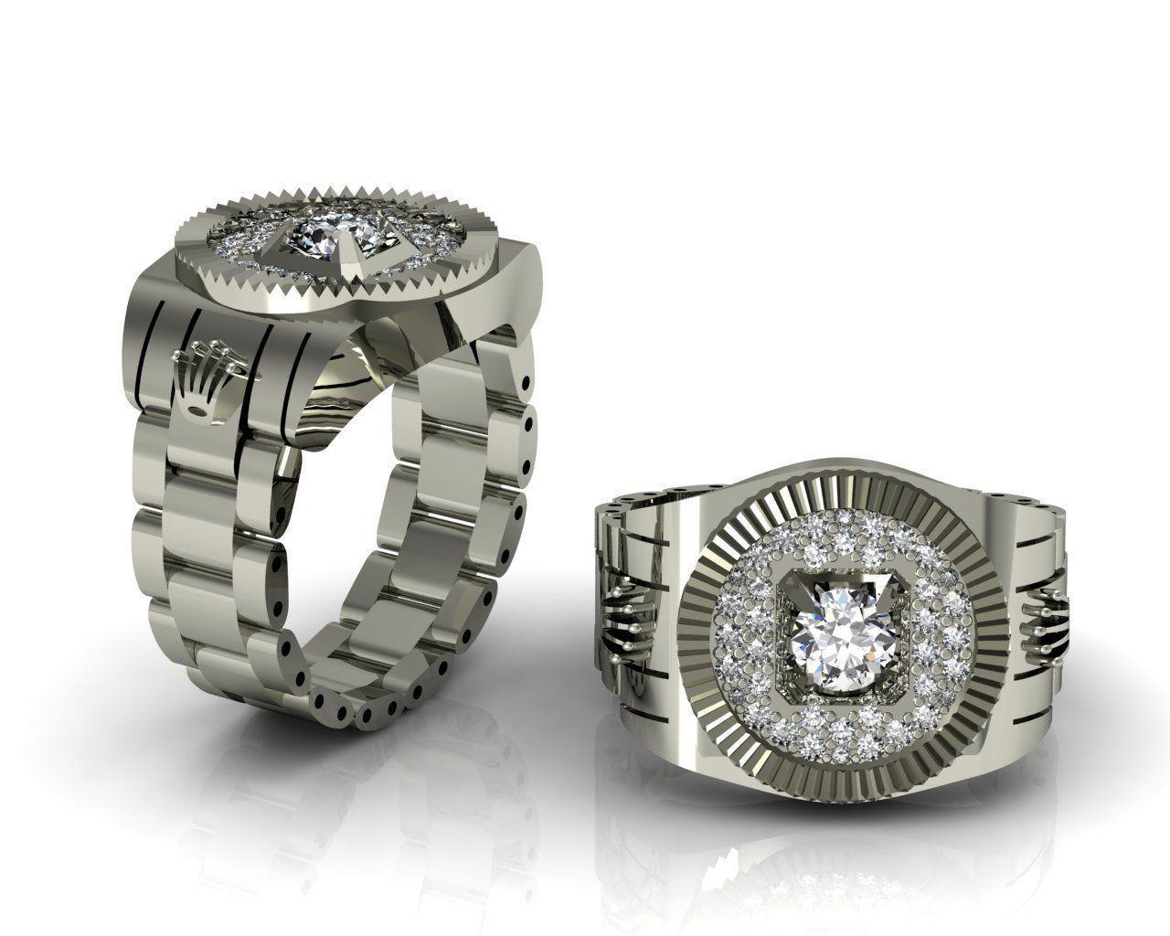 Rolex Ring 3d Model 3d Printable 3dm Cgtrader Com