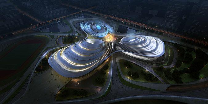grand stadium 3d model max 1