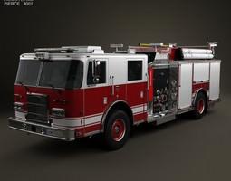 Pierce Fire Truck Pumper 2011 3D