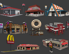 Fastfood Restaurants Pack 3D asset