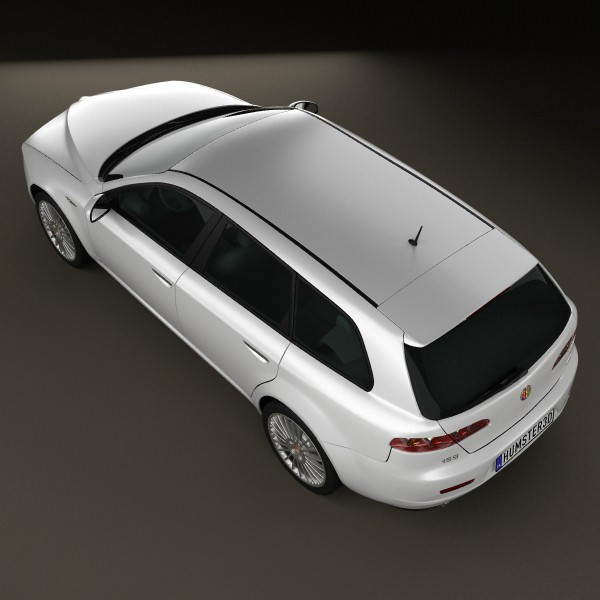 Alfa-Romeo 159 Sportwagon 2011 3D Model MAX OBJ 3DS FBX