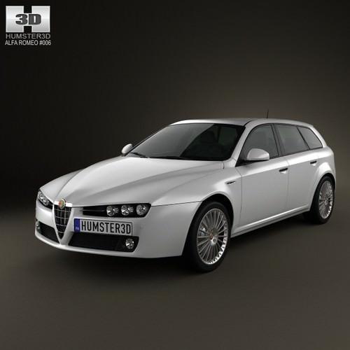 Alfa-Romeo 159 Sportwagon 2011 3D Model .max .obj .3ds
