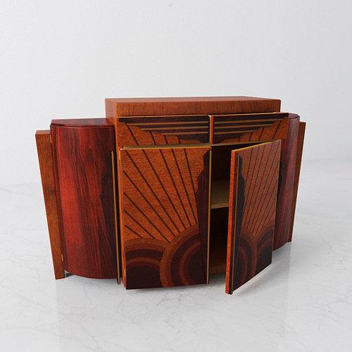 cabinet 33 am142 3d model obj mtl 1