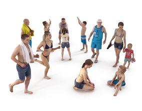 Beach Collection x12 3D asset