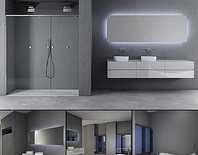 Bathroom furniture set Panta Rel 5 3D model