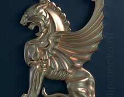 Gryphon 3d relief jewel