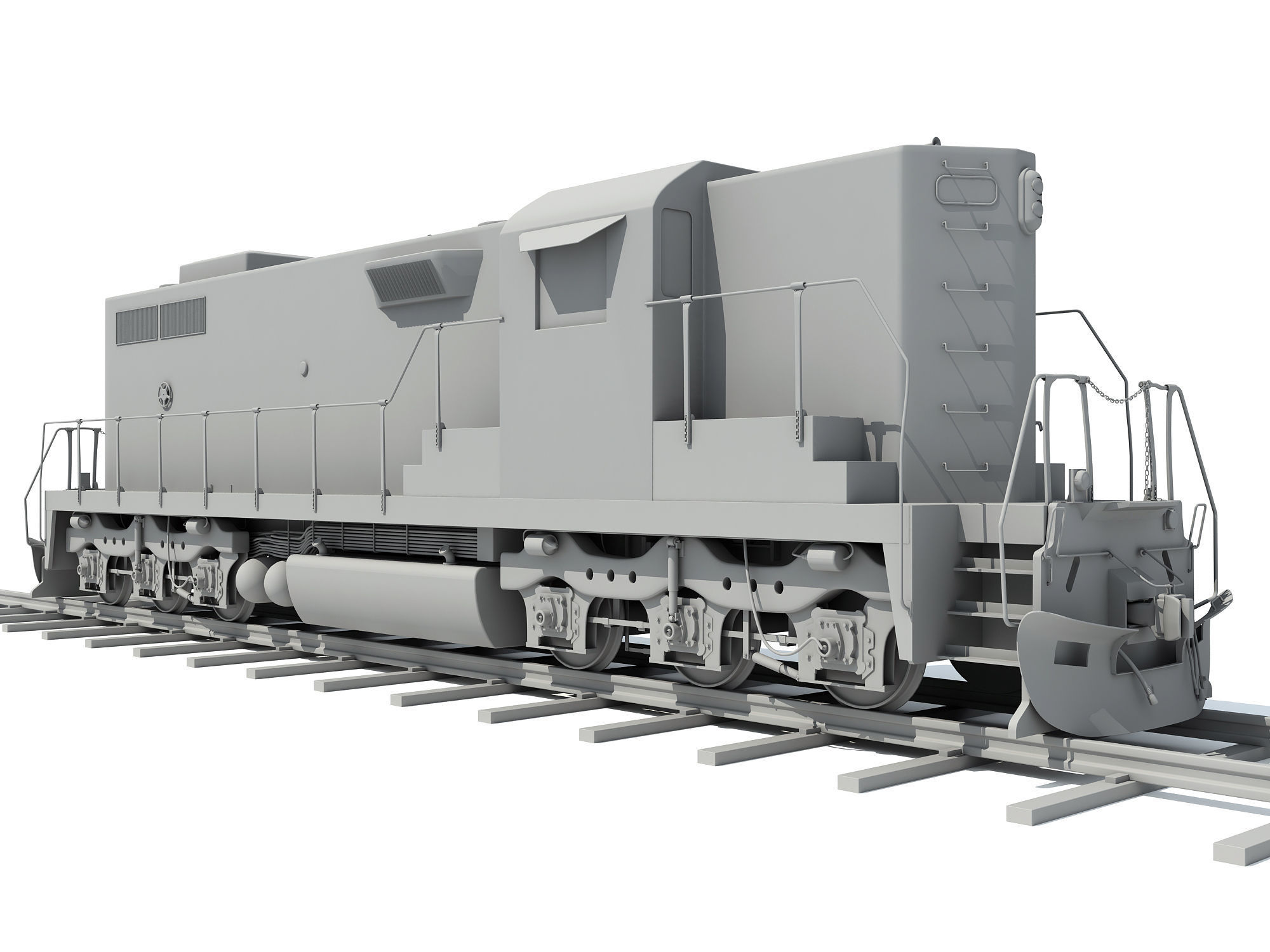 3D Train Models without Textures