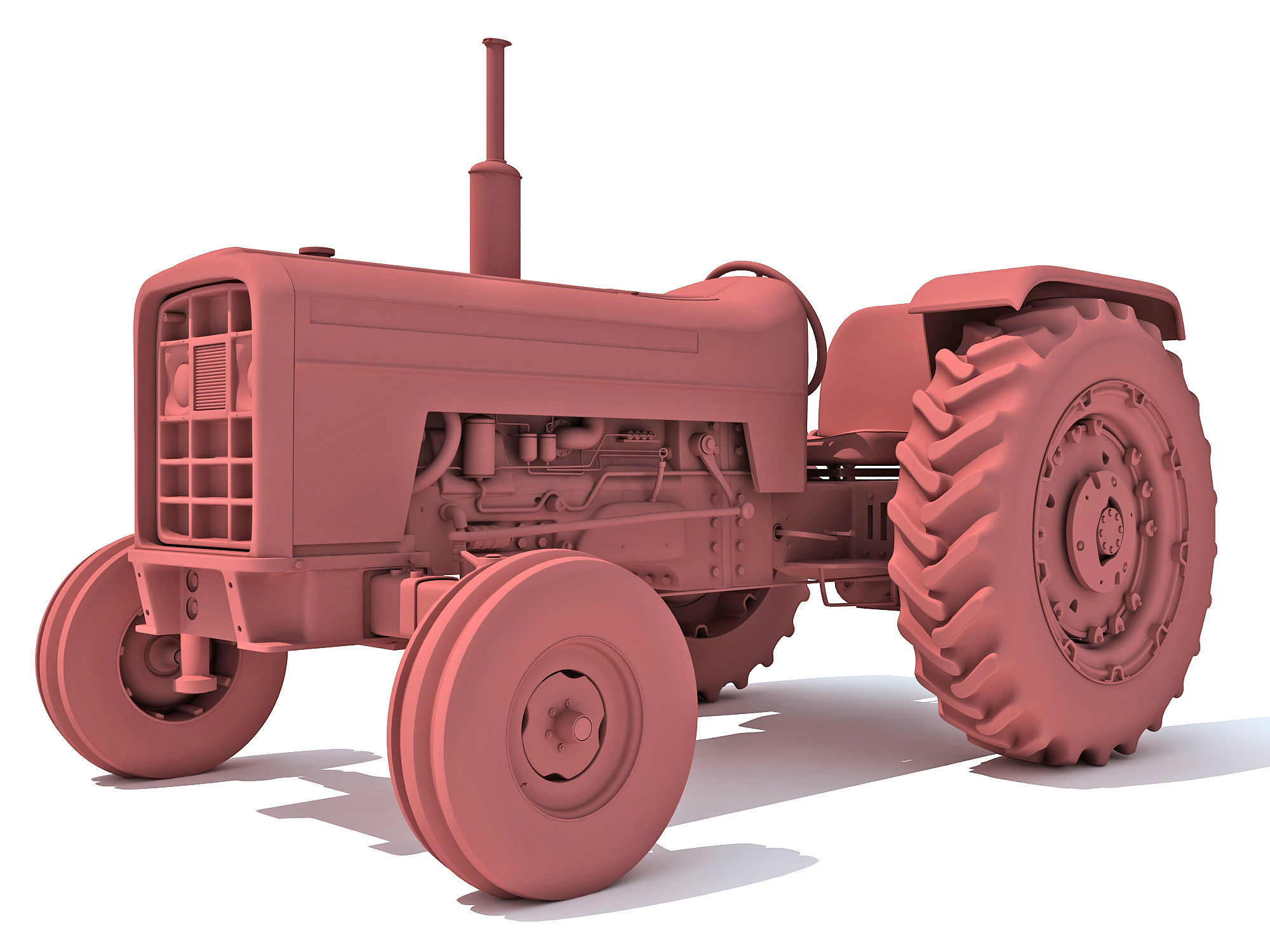 Detailed Classic Tractor