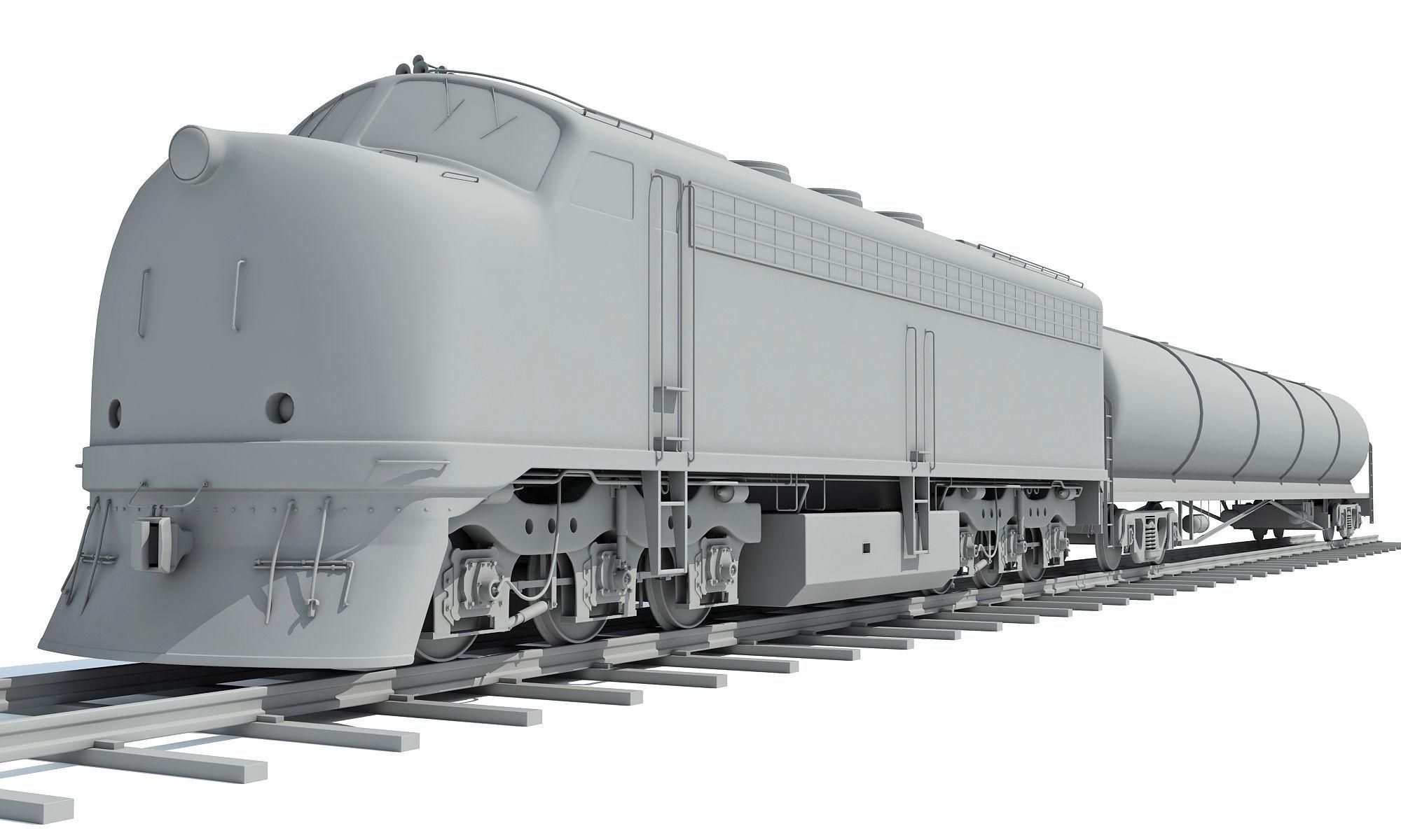 Locomotive Tanker Train 3D Models