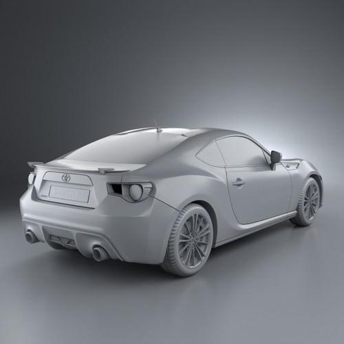 Toyota GT 86 2013 3D Model .max .obj .3ds .fbx .c4d .lwo