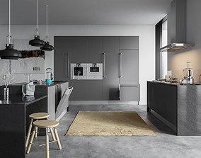 3D Kitchen Equipment Interior Scene