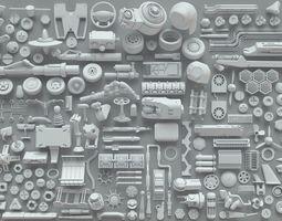 3D model Kitbash-204 pieces- part-5