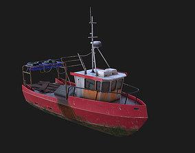 Fishing boat 3D model VR / AR ready