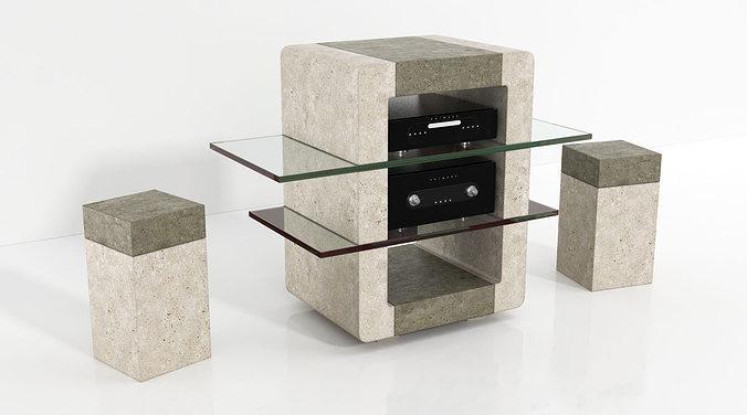 furniture 55 am144 3d model obj mtl 1