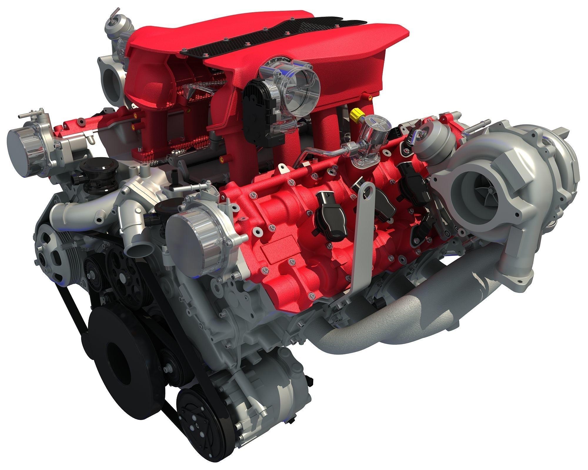 Turbocharged V8 Engine
