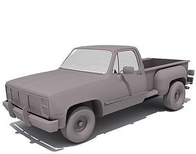 3D model Dark classic GMC Car