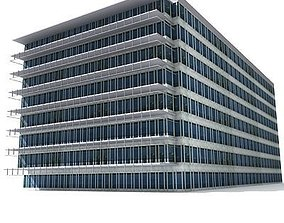 3D model Square Office Building 102