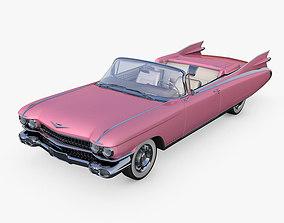 Cadillac Eldorado 62 series 1959 convertible pink 3D