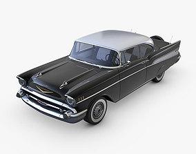 Chevrolet Bel Air 1957 black 3D model