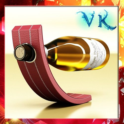 wine rack 5 and white wine bottle 3d model max obj 3ds fbx mtl mat 1