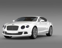 3D model Bentley Continental GT Speed 2012