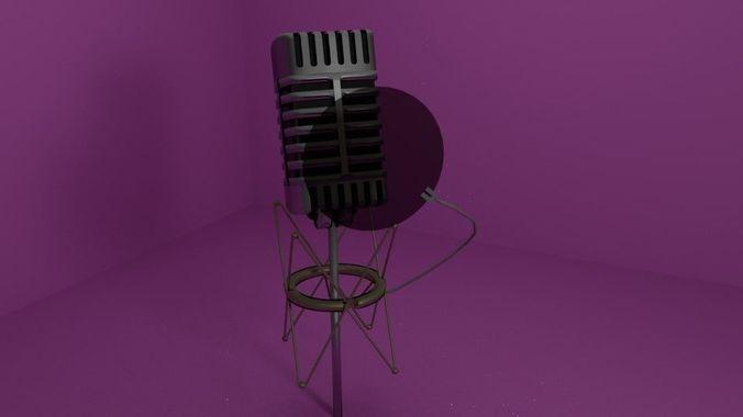 microphone mix 3d model obj mtl 3ds fbx stl blend dae 1